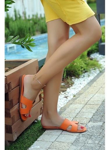 Pembe Potin A820-19 Kadın Terlik A820-19 Oranj